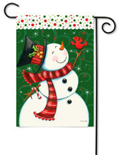 Toland snowman garden flag