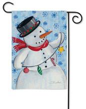 Snowman garden flag by Toland