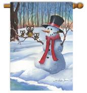 Toland snowman house flag