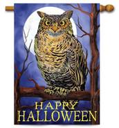 Halloween owl house flag