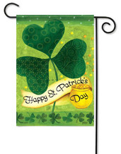Happy St. Patrick's Day garden flag