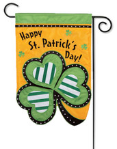 St. Pat's Applique Garden Flag