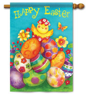 Easter House Flag