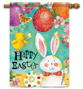 Outdoor Easter house flag