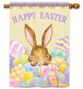 Decorative Easter house flag