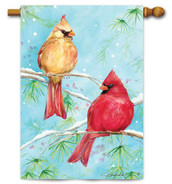Winter Cardinals by Premier Flags