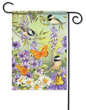 Decorative outdoor garden flag