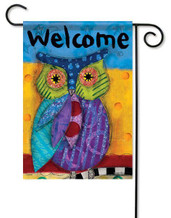Owl decorative garden flag
