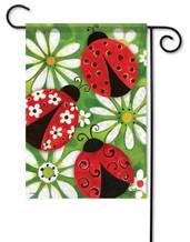 Ladybugs garden flag