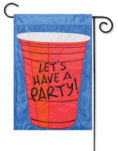 Let's Party Garden Flag