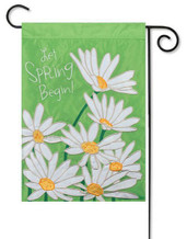 Spring applique garden flag