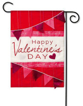 Applique Valentine's Day Garden Flag