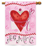 Valentine house flag