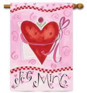 Valentine house flag