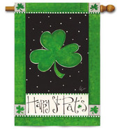 St. Patrick's Day house flag