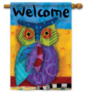 Owl decorative house flag