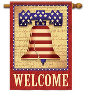 Patriotic decorative house flag