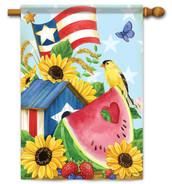 Patriotic house flag
