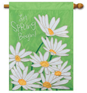 Spring applique house flag