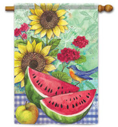 Decorative summer house flag