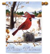 Red cardinal house flag