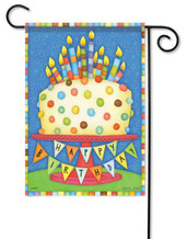 Birthday party garden flag
