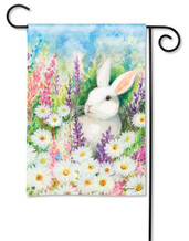 "White Bunny Easter Garden Flag - 12.5"" x 18"""