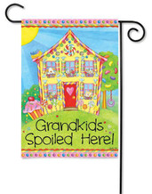 "Grandkids Garden Flag - 12"" x 18"" - 2 Sided Message"