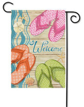 Decorative summer flip flop garden flag