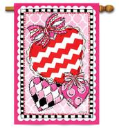 Custom Décor Valentine House Flag