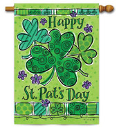 Custom Decor St. Patrick's Day House Flag