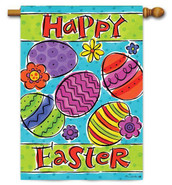 Custom Decor Easter House Flag