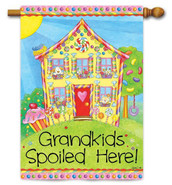 Custom Decor Grandkids Spoiled House Flag