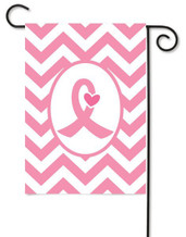 Breast Cancer Awareness Garden Flag