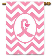 Breast Cancer Awareness House Flag