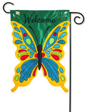Evergreen deluxe applique garden flag