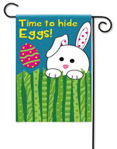 Evergreen applique Easter garden flag