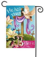 Religious Easter garden flag