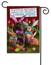 Evergreen Easter garden flag