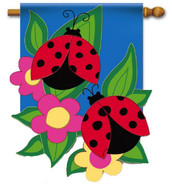 Evergreen summer applique house flag