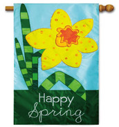 Applique spring house flag