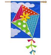 Evergreen deluxe applique house flag
