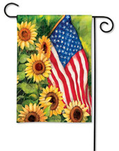 BreezeArt patriotic garden flag