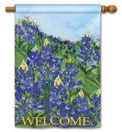 BreezeArt bluebonnets house flag