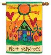 Breeze Art House Flag by Stephanie Burgess