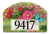 Mason Jar Bouquet Yard Design Address Sign
