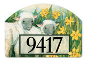 Easter Magnetic Address Sign