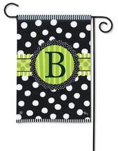 Monogram Garden Flag - B