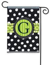 Monogram Garden Flag - Letter F