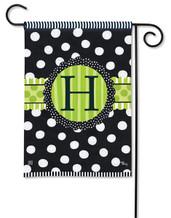 Monogram Garden Flag - Letter H